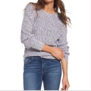 FREE PEOPLE Electric City Pullover Sweater Blue XS